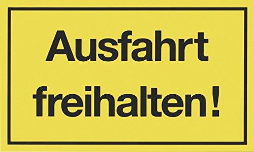 """Metafranc Hinweisschild \""""Ausfahrt freihalten!\"""" - 300 x 200 mm / Beschilderung / Infoschild / Verbotsschild / Halteverbot / Parkverbot / Grundstückskennzeichnung / Gewerbekennzeichnung / 500270"""