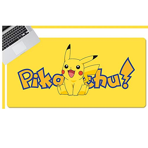 Showkig Large Protective Mouse Mats,Anime Pokémon/Pikachu ,Extended Laptop PC Mouse Pad,Ergonomic Laptop Mouse Pad with Stitched Edges, Best Gaming Keyboard Pad for Teens Work (Size : 9004004mm)