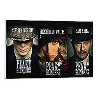 Peaky Blinders キャンバス アート ポスターとウォール アート イメージ プリント モダンな家の寝室のインテリア ポスター 12×18inch(30×45cm)