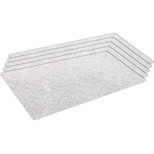 Kenekos Microfilter universeel voor stofzuigers, 210 x 120 mm, op maat te snijden fijnfilter voor apparaten van Siemens, Bosch, Miele, UVM. - 5-pack