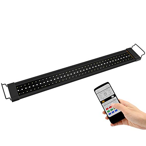 NICREW RGB Plus Luz LED Acuario, Luz Acuario Dulce Agua con Control Remoto, 24/7 Completamente Automatizado LED Acuario, 77-110 cm, 22W