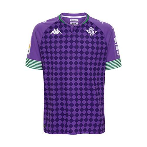 Kappa Primera equipación Real Betis, Camiseta, Hombre, Violeta/verde/blanco, M
