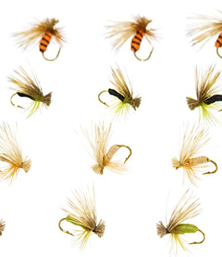 Outdoor Planet 12 Kingrey's Better Foam Caddis Dry Flies for Trout Fly Fishing Flies Lure Assortment