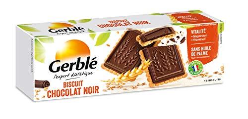 Gerblé Vitalité, Biscuits Chocolat Noir, Sans huile de palme, 1 boîte de 12 biscuits, 150g