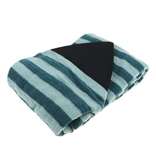 P Prettyia Bolsa de Almacenamiento de Surfboard, Cubierta para Tablas de Surf Padscon Rayas de Verde y Negro, 25 Tamaño Opcional - 5.5 pies