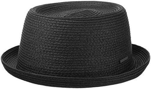 Stetson Dawson Black Pork Pie Straw Hat Men Black XXL 7 3 4 7 7 8 product image