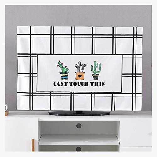 YMYP08 Universele TV-afdekking, beeldscherm stofbescherming stof wandbehang 32-75 inch LCD-Curved-TV set desktopgordijn afdekking Cloth