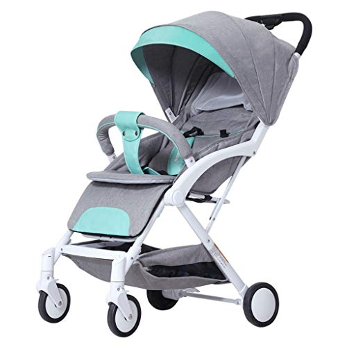 New STRR Pram, Convertible Reclining Stroller, Foldable and Portable Stroller Baby Carriage Pushchai...