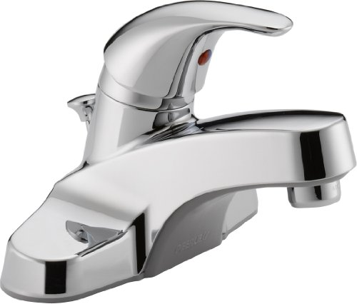 Peerless Centerset Bathroom Faucet Chrome, Bathroom Sink Faucet, Single Handle, Drain Assembly, Chrome P136LF