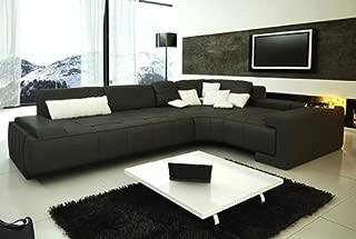 Franco Collection Modern Sectional Sofa - Black