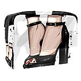 Bolsa de tocador de Viaje Tacones Altos Negros portátil PVC Bolsa de cosméticos de Vistoso de Organizador de Maquillaje con Cremallera Apto para niñas 18.5x7.5x13cm