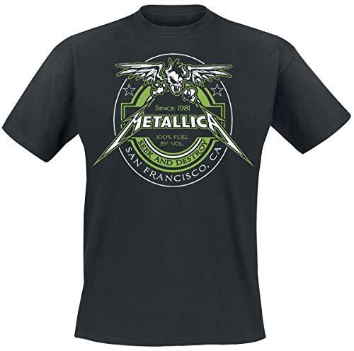 Metallica 100% Fuel - Seek and Destroy Männer T-Shirt schwarz L 100% Baumwolle Band-Merch, Bands