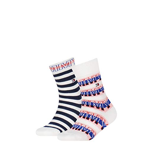 Tommy Hilfiger Boys Wording Kids (2 Pack) Socks, Tommy original, 27-30