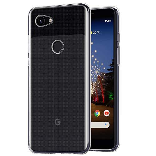 AHABIPERS Hülle Kompatibel mit Google Pixel 3A Hülle, [Ultra Transparent Silikon Gel TPU Soft] Cover Case Schutzhülle Kratzfeste mit Schock Absorption & Anti Scratch für Google Pixel 3A