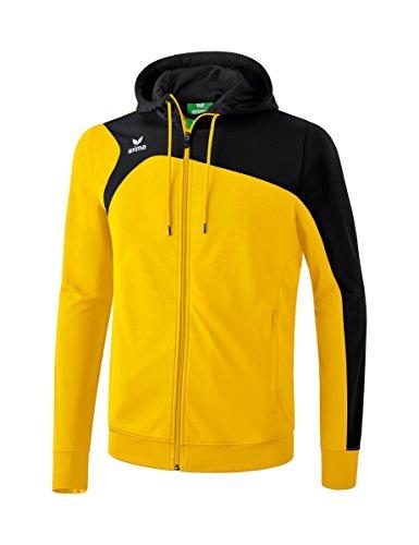erima Kinder Trainingsjacke Mit Kapuze Club 1900 2.0 Trainingsjacke mit Kapuze, gelb/schwarz, 164, 1070706