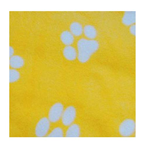 Colorido Pet Puppy Winter Blanket Warm Beds Mat Cover Dog Cat Soft Fleece Paw Print Throw Blanket Pet Sleep Mat Yellow