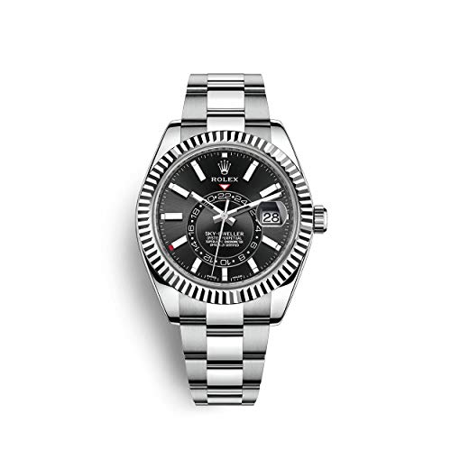 Rolex Sky Dweller Stainless Steel and White Gold/Oyster Bracelet / 326934-0005 / Black Dial