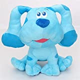 JIEYUEBAI 18cm Beanbag Muñeca rellena Dibujos Animados Azul Rosa Manchado Perro Peluche Juguetes Azules Pistas de Felpa muñeca Juguetes (Color : Blue Dog, Size : 1)