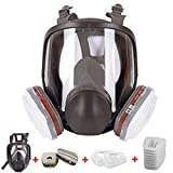 15 in 1 Full Face Respirator 6800,Anti-Fog Respiratory Supplies Wide Field of View,Suitable for Woodworking, Welding, Organic Gas,Paint Spray, Chemical