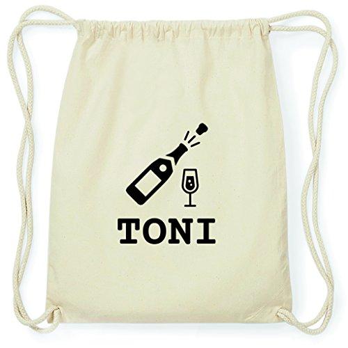 JOllify Turnbeutel Sylvester - Happy New Year - für Toni - Sekt Champagner Prost