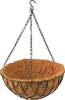 Rocky Mountain Goods Hanging Basket with Natural Coconut Liner - Thick coco liner hanging planter for less watering - Extra strength chain and hook included (1, 12