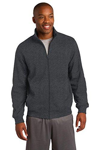 SPORT-TEK Men's Full Zip Sweatshirt XL Graphite Heather