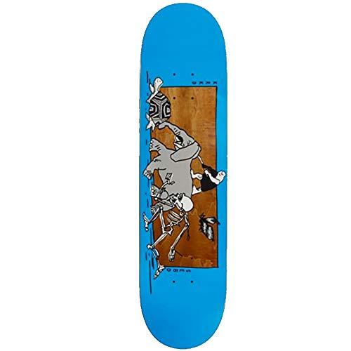 Krooked Sebo Marathon Skateboard-Brett / Deck, Blau / mehrfarbig