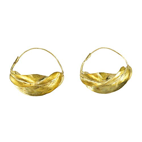 Pendientes fulani dorados Talla XL