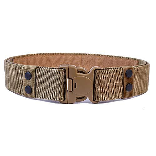 Cinturón 1pc aire libre táctico cinta para la Web Belt hombres con Heavy-militar de liberación rápida hebilla de cinturón (negro)