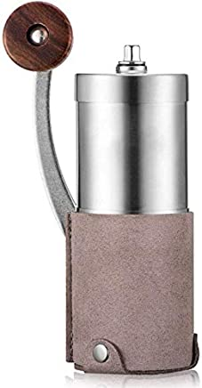 HZSMKJ Convenient Manual Coffee Grinder Manual Grinder Adjustable Grinding Thickness Coffee Grinder Stainless Steel Body Household Travel Coffee Bean Mill 3 Colors Ideal for Home Office and Travelling