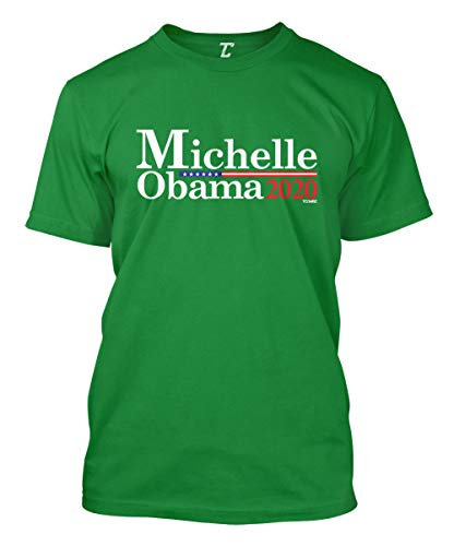 Michelle Obama 2020 - Presidential Candidate Men's T-Shirt (Kelly, Medium)