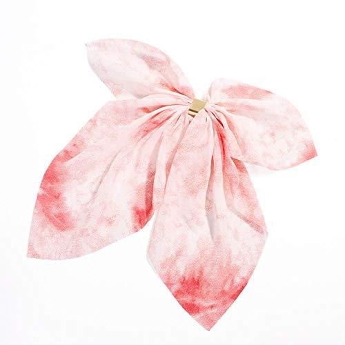 KADIS 3 pcs Floral en Mousseline de Soie Grand Arc Boucle en Or Peigne à Cheveux en épingle à Cheveux Coiffe de Femme Turban Ruban Cheveux Clip Filles, 4