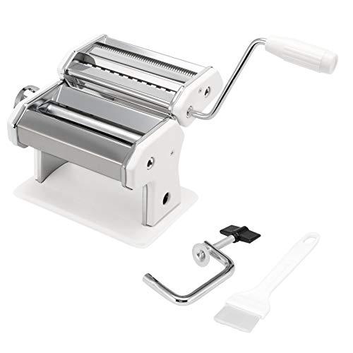 bremermann Nudelmaschine Edelstahl - für Spaghetti, Pasta und Lasagne (7 Stufen), Pastamaschine, Pastamaker (Weiß)
