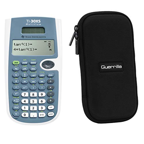 Texas Instruments TI-30XS Scientific Calculator + Guerrilla Zipper Case, for Extra Protection & Easy Storing …