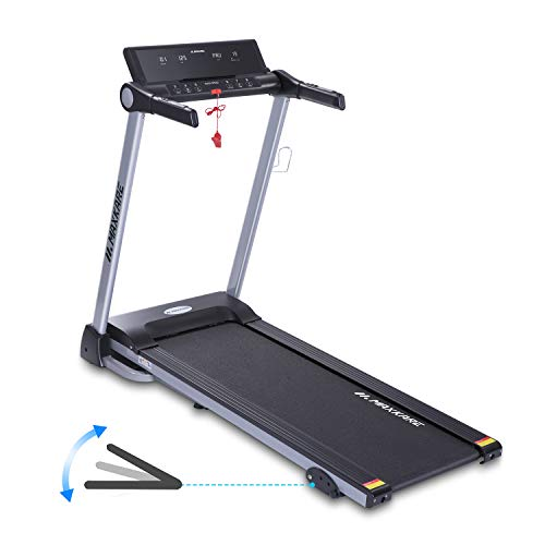MaxKare Electric Treadmill Foldable Running Machine 8.5 MPH Max Speed & 15 Pre-Set Programs Easy Assembly with Adjustable Display Panel 3-Level Manual Incline Convenient Tablet Stand for Home Use