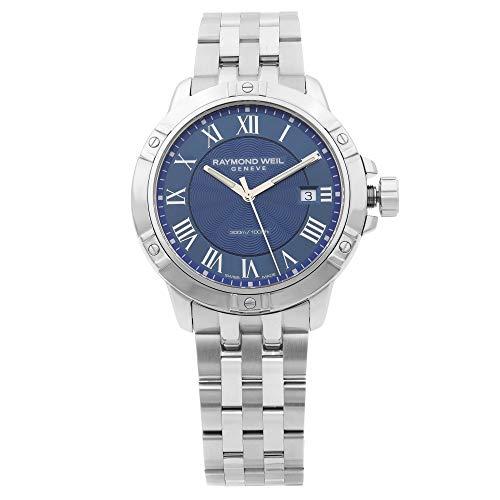 Raymond Weil Herren Analog Quarz Uhr mit Edelstahl Armband 8160-ST-00508