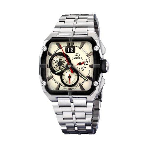 Jaguar 636/1 - Reloj de Caballero de Cuarzo, Correa de Acero Inoxidable Color Plata