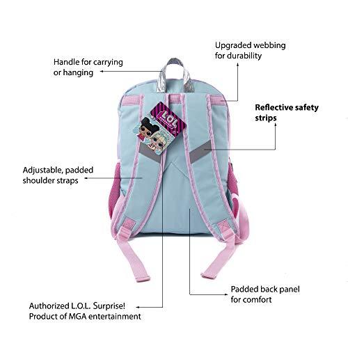 LOL Surprise Backpack for Girls - 16 Inch - LOL School Bag, Elementary School Size