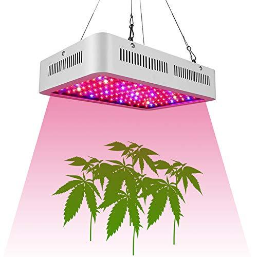 ZJWN Lámpara de Planta, 1000W Lámpara de Planta Espectro Completo LED Lámpara de Cultivo de Plantas, con 100 Lámpara de Crecimiento Grow Light Indoor para siembra, Crecimiento,White