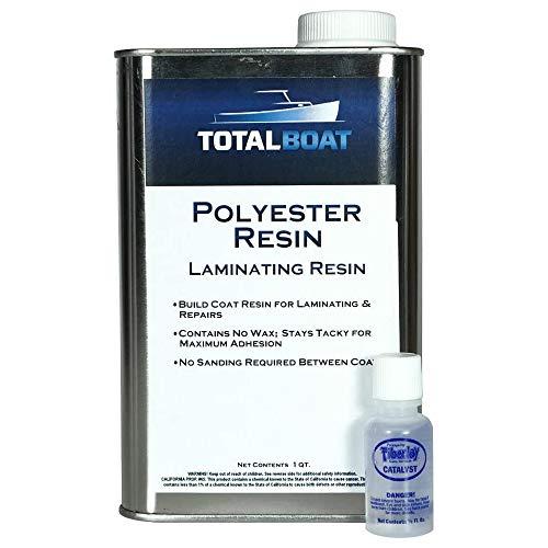 TotalBoat Polyester Laminating Resin - Marine Grade Fiberglass Resin and MEKP Catalyst for Layups and Repairs (Gallon)