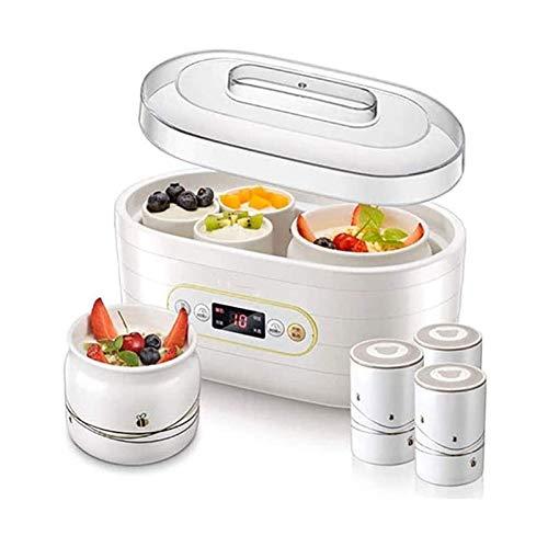 HKJZ SFLRW Fabricante de Yogurt - Máquina automática del Fabricante de Yogurt Digital con Temperatura Establecida: Incluye 8 frascos de cerámica Reutilizables