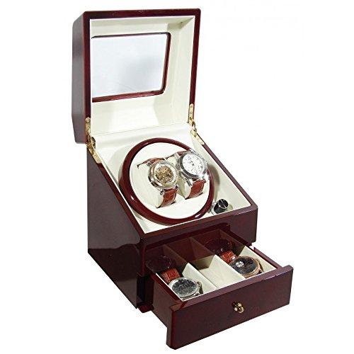 KA073-orologio con cassetto rosso borgogna alta...