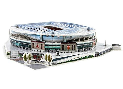 CMO 3D Stadium Puzzle ,Arsenal Emirates Stadium Model,Arsenal Fans Souvenir DIY Puzzle (14' X 13' X 3')