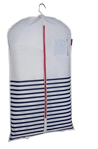 COMPACTOR Housse Courte pour Vêtements, Fermeture Zippée Anti-Poussière, Bleu et Blanc \
