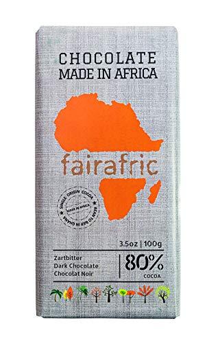 fairafric Zartbitterschokolade Herb 80% vegan, 100g