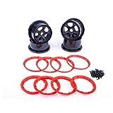 TOP SPEED RC WORLD Felge Mit Rot beadlock Ring und Schrauben für HPI Baja Rovan King Motor 5B