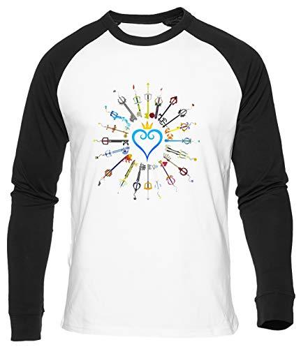 Llaves Espada Camiseta De Béisbol Hombre Mujer Unisex Blanca Algodon Organico Baseball T-Shirt Men's Women's White