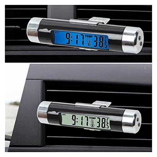 FENGFENG Sun Can Tipo de Clip de Salida de Aire de Aire LCD Mira electrónica Temperatura Combinación de automóvil Interior del automóvil Reloj electrónico Reloj Accesorios para automóviles