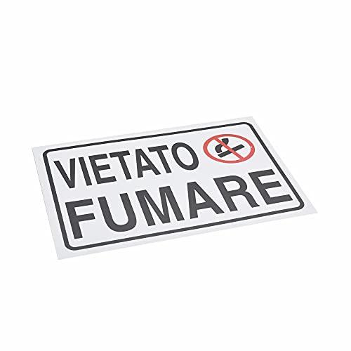 takestop® Cartello Vietato Fumare Land_H1037 SEGNALETICA DIREZIONALE Sicurezza Avvertimento Land PLASTIFICATO