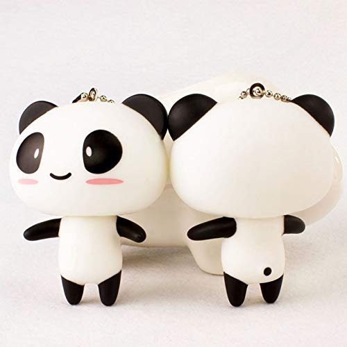 Afairy Couple Panda Keychain, Car Key Chain Cute Panda Keyring Chain Pendant Keychains Jewelry For Women, 2PCS (Color : A)